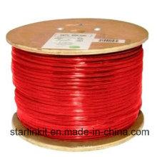 Alta velocidade CAT6 blindado STP Bulk cabo Ethernet 305m vermelho