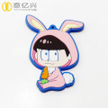Promotional cartnoon character pvc rubber keychain