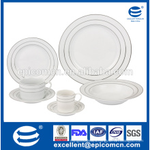 Luxury Gold Rim New bone Dinner set