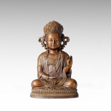 Estatua de Buda Corea Avalokitesvara Escultura de bronce Tpfx-068