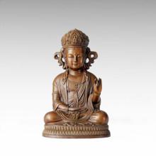 Statue de Bouddha Coréenne Avalokitesvara Bronze Sculpture Tpfx-068