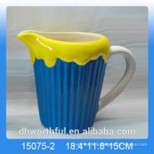 Neueste Zuhause Dekor Keramik Milchbecher mit Eisfigur Figur