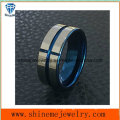 Shineme Jewelry High Quality Blue Plated Tungsten Ring Jewelry (TST2871)