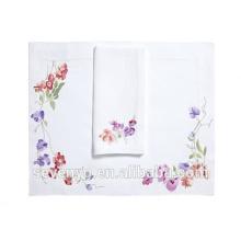 Toalla de felpa 100% algodón. Hermoso patrón de colorpetal violeta. Toallas de mano Ht-023.