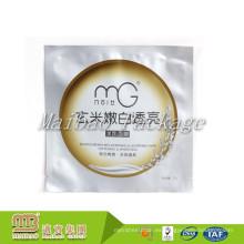 Bolso plástico plástico de la máscara del papel de aluminio biodegradable para el paquete cosmético con el logotipo de encargo