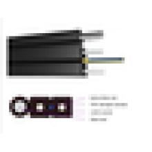 Cable de fibra óptica de la gota del cable de fibra óptica para el ftth, g657a cable de la fibra óptica de la gota del ftth de la base 2 al aire libre