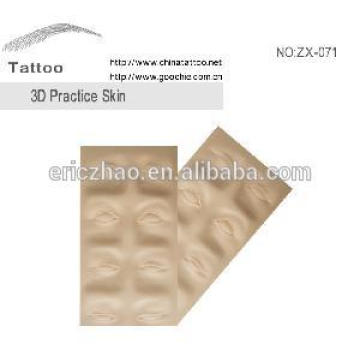 Goochie Washable Rubber Permanent Makeup 3D Eyebrow Practice Skin