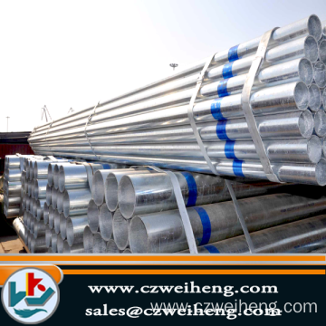 High Quality for for Weld Steel Pipe good quality bs1387 Galvanized steel pipe export to Argentina Exporter