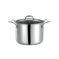 Stock pot with high quality casting handle