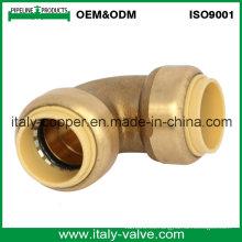 OEM y ODM Codo de ajuste forzado del empuje del latón de la calidad (IC-1018)