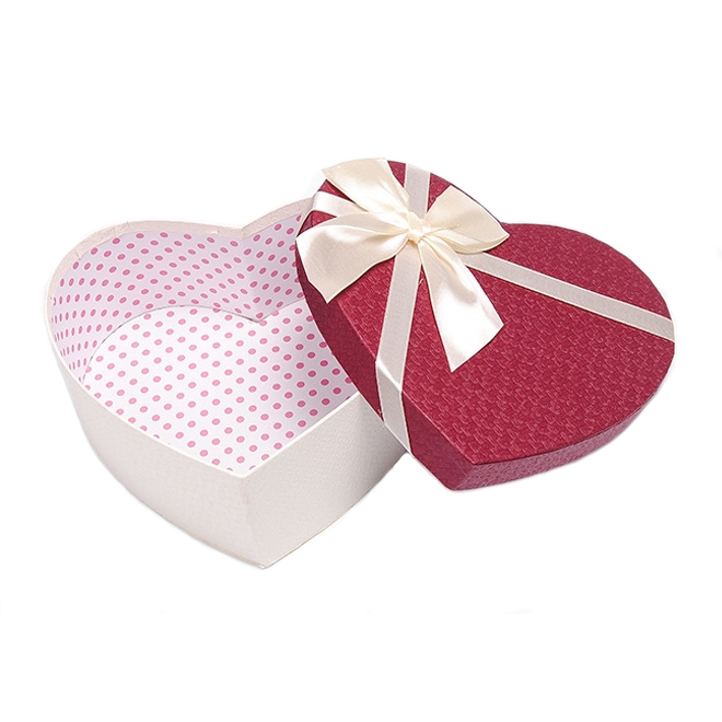 Paper Heart Shape Rigid Gift Box