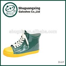 Ladies Short Rain Boots Ankle Rubber Rain Boots for Womens D-615