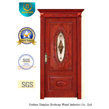 European Solid Wood Door for Interior with Carving (ds-8004)