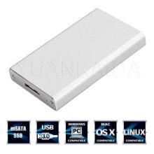 Aluminum USB 3.0 to mSata Hard Disk Case