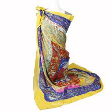Fashion Printing chiffon infinity scarf Square Scarf