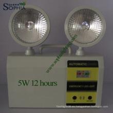 Lámpara de emergencia LED de cabezales gemelas de 5W y 8 horas