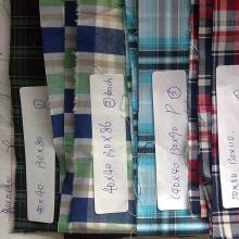 Tejido de algodón peinado teñido en hilado, tela de algodón teñida con hilo