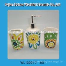Accessoires de salle de bains colorés, accessoires de salle de bain en céramique bon marché