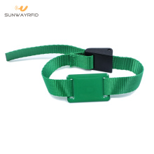 NTAG213 Nylon RFID Wristband dengan Kunci Adjustable