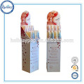 High quality cardboard cosmotic display rack cardboard display stand floor cometic display stand for shop