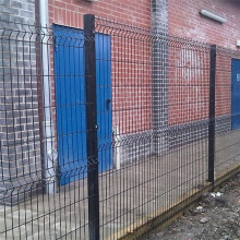 Galvanized Triangle Bend 3D Curved Welded Fence