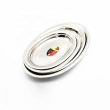 plat ovale de poisson d'acier inoxydable en métal de catégorie comestible 16inch pour le restaurant