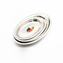 food grade 16inch metal stainless steel oval fish plate for restaurant