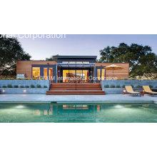 Casa de aço clara residencial pré-fabricada disponível