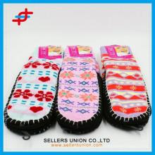 Bunte erwachsene Handhäkelarbeit Niedliche Indoor Slipper Socke
