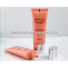 Emballage de tubes de crème cosmétiques BB avec bouchon plissé