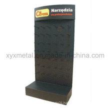 Powder Coated Metal Pegboard Floor Shelf Stand Tools Exhibition Display Rack