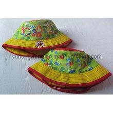 Sombrero / casquillo impresos del cubo de los niños, sombrero de béisbol de los deportes