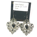 Lace Metal Earrings with Gems Fashion Jewelry