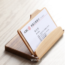 foldable wooden name card holder business card case