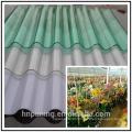 Telhas de plástico ondulado para telhados de telhados