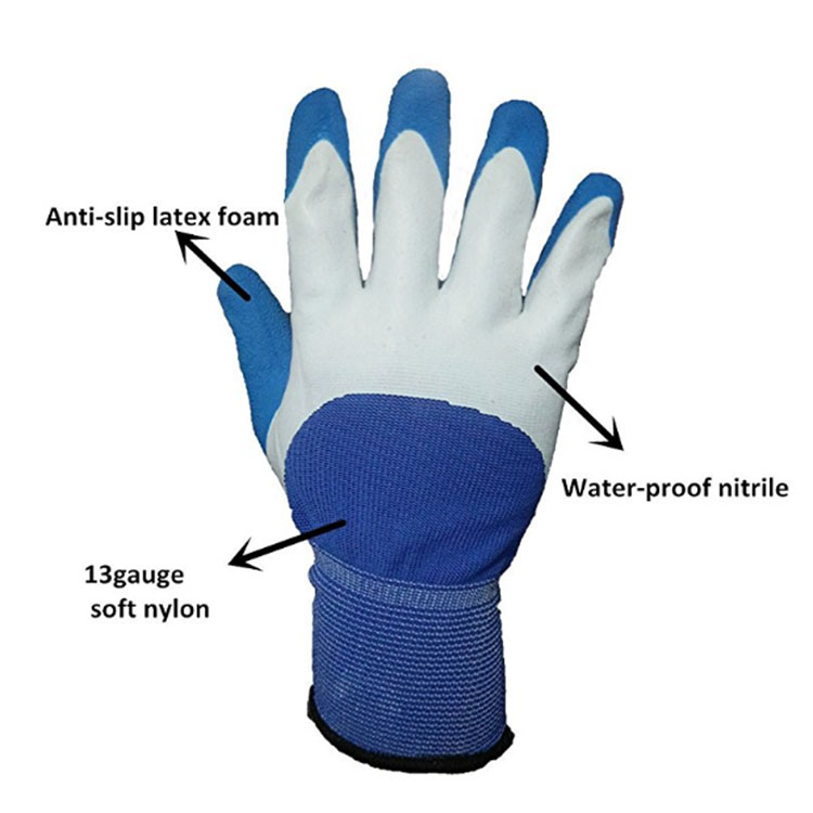 Blue Waterproof Cleaning Gloves