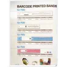 tarjeta de identificación de paciente con código de barras desechables del hospital