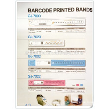 hospital disposable barcode printed bands patient ID card