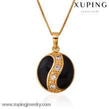 31258 Xuping novo pingente de jóias de cor banhado a ouro 18k com zircão