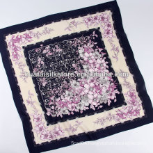 Floral Style Crepe Silk Scarf Gift Lady