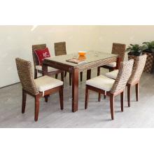 Design clássico de luxo Hyacinth Dining Set de jantar para móveis de vime de interior e natural