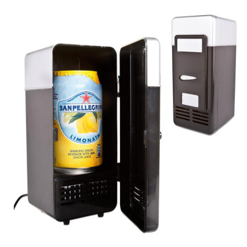 USB Electricidade Powered Mini Geladeira Vertical com LED
