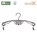 Elegantes Metall Dessous Hanger mit Zinn Finishing