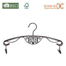 Elegant Metal Lingerie Hanger com Pewter acabamento