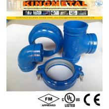 Accouplement rainuré de garnitures de fer malléable pour rainuré pour le système de sécurité incendie