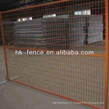 Panneaux de clôture faciles soudés enduits de poudre 6'x10 'avec la base en acier (Canada, style des Etats-Unis)
