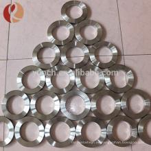 2016 dongguan personalizado 5 mm de titanio anillo en blanco para incrustación JZ1200