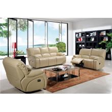 Canapé de salon avec canapé moderne en cuir véritable (932)