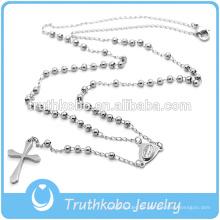 Preofesional Custom Design katholischen Halskette Edelstahl religiöse Rosenkranz & Kreuz Kruzifix Halskette mit guter Qualität