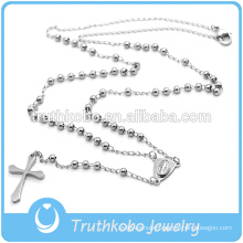 Preofesional Custom Design Catholic Necklace Stainless Steel Religious Rosary & Cross CRUCIFIX Necklace With Good Quality